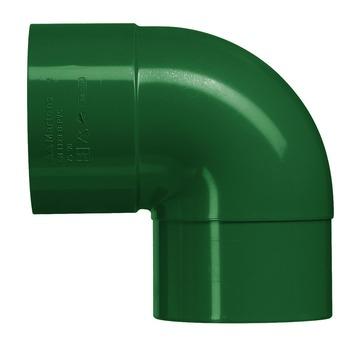 Martens PVC bocht 90° groen mof/verjongd 80 mm