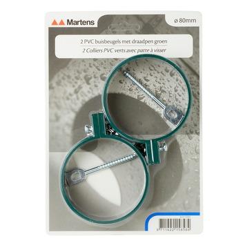 Martens ophangbeugel met pen 80 mm groen 2 stuks