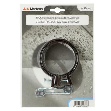 Martens ophangbeugel met pen 70 mm bruin 2 stuks