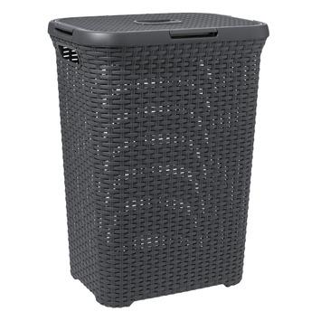 Curver wasbox antraciet 60 l