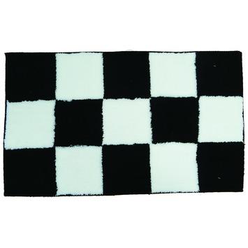 KARWEI Chess badmat zwart 60 x 100 cm
