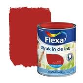 Flexa Strak in de Lak zijdeglans signaalrood 1019 750 ml watergedragen
