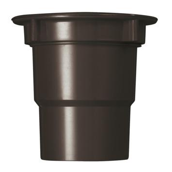 Martens bakgoot uitloop met wartel 125 mm bruin