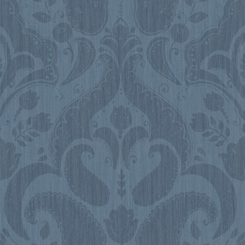 love this wallpaper! design by Eijffinger® vliesbehang paisley blauw-navy