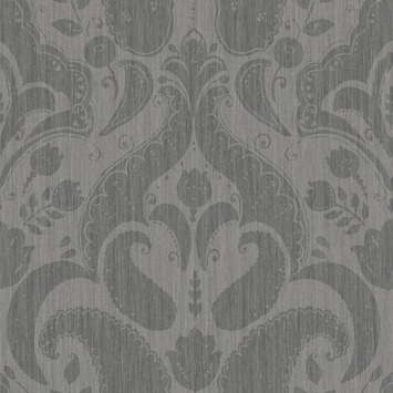 love this wallpaper! design by Eijffinger® vliesbehang paisley grijs-zwart
