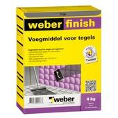 Weber SG voegmiddel wand/vloer grijs 4 kg