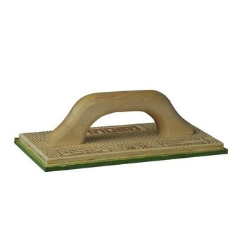 Triuso schuurbord hout 28x14 cm met groen sponsrubber