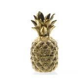 Vaas ananas polystone goud 11x11x23 cm