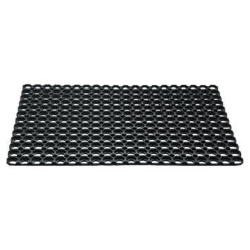 Deurmat 50x80 cm zwart