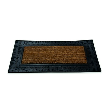 Schraapmat ruco naturel/zwart