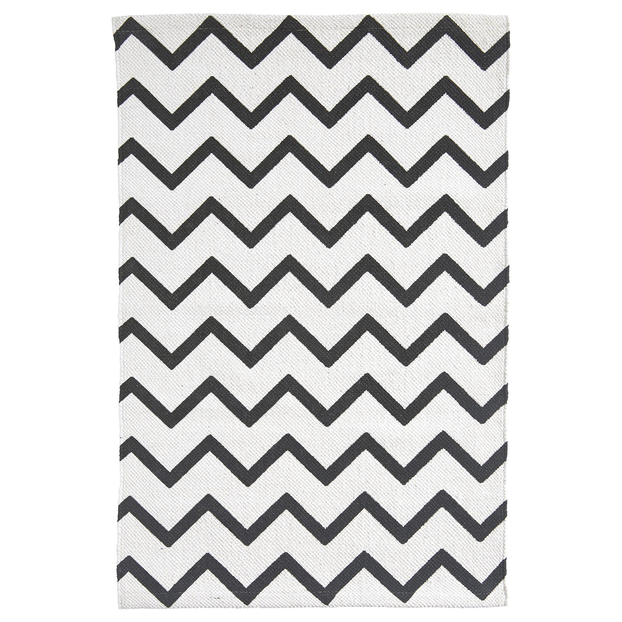 Vloerkleed bombay zigzag zwart wit 60x90 cm vloerkleden woonaccessoires meubelen karwei - Tegelvloer patroon ...
