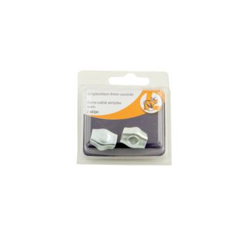 Ledent kabelklem simplex tot Ø 4 mm verzinkt (2 stuks)