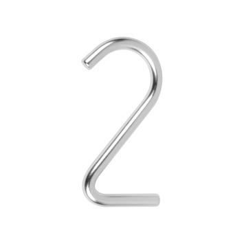 Huiscijfer 2 aluminium Rond