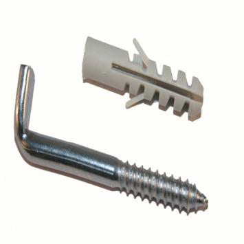 KARWEI plug nylon 8 mm met muurduim 65 mm 6 stuks