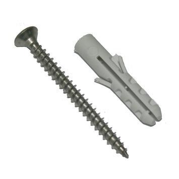 KARWEI plug nylon 5 mm met spaanplaatschroef verzinkt 16 stuks