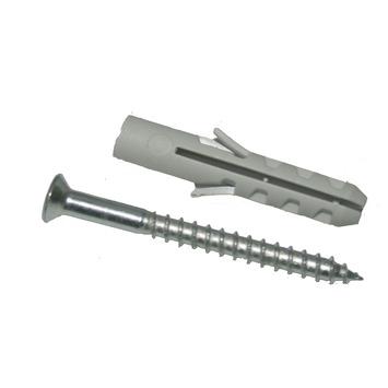 KARWEI plug nylon 5 mm met houtschroef verzinkt 3,5x30 mm 20 stuks