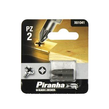 Piranha schroefbit X61041 PZ2 25 mm (2 stuks)