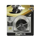 Piranha gatenzaagset X81000 25-62x20 mm (7-delig)
