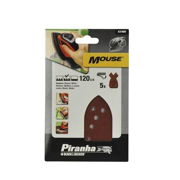 Piranha schuurpapier X31009 K120 (5 stuks) voor B&D Mouse