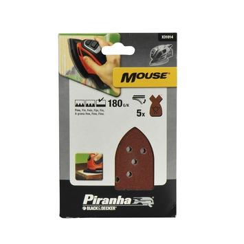Piranha schuurpapier X31014 K180 (5 stuks) voor B&D Mouse