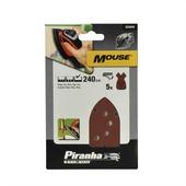 Piranha schuurpapier X31019 K240 (5 stuks) voor B&D Mouse