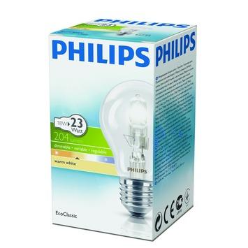 Philips EcoClassic halogeenlamp peer helder E27 18W