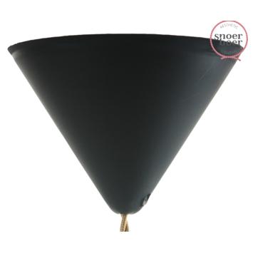 Snoerboer plafondkap zwart 122 mm