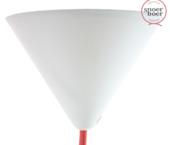 Snoerboer plafondkap wit 122 mm