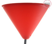 Snoerboer plafondkap rood 122 mm