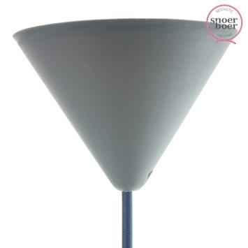 Snoerboer plafondkap grijs 122 mm