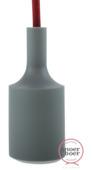Snoerboer fittinghuls siliconen E27 grijs