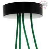 Snoerboer plafondkap zwart 120 mm