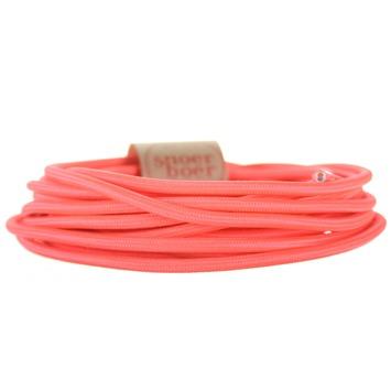 Snoerboer snoer fluor roze per cm