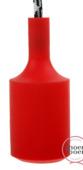 Snoerboer fittinghuls siliconen E27 rood