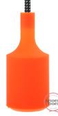 Snoerboer fittinghuls siliconen E27 oranje