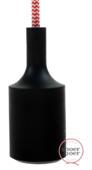Snoerboer fittinghuls siliconen E27 zwart