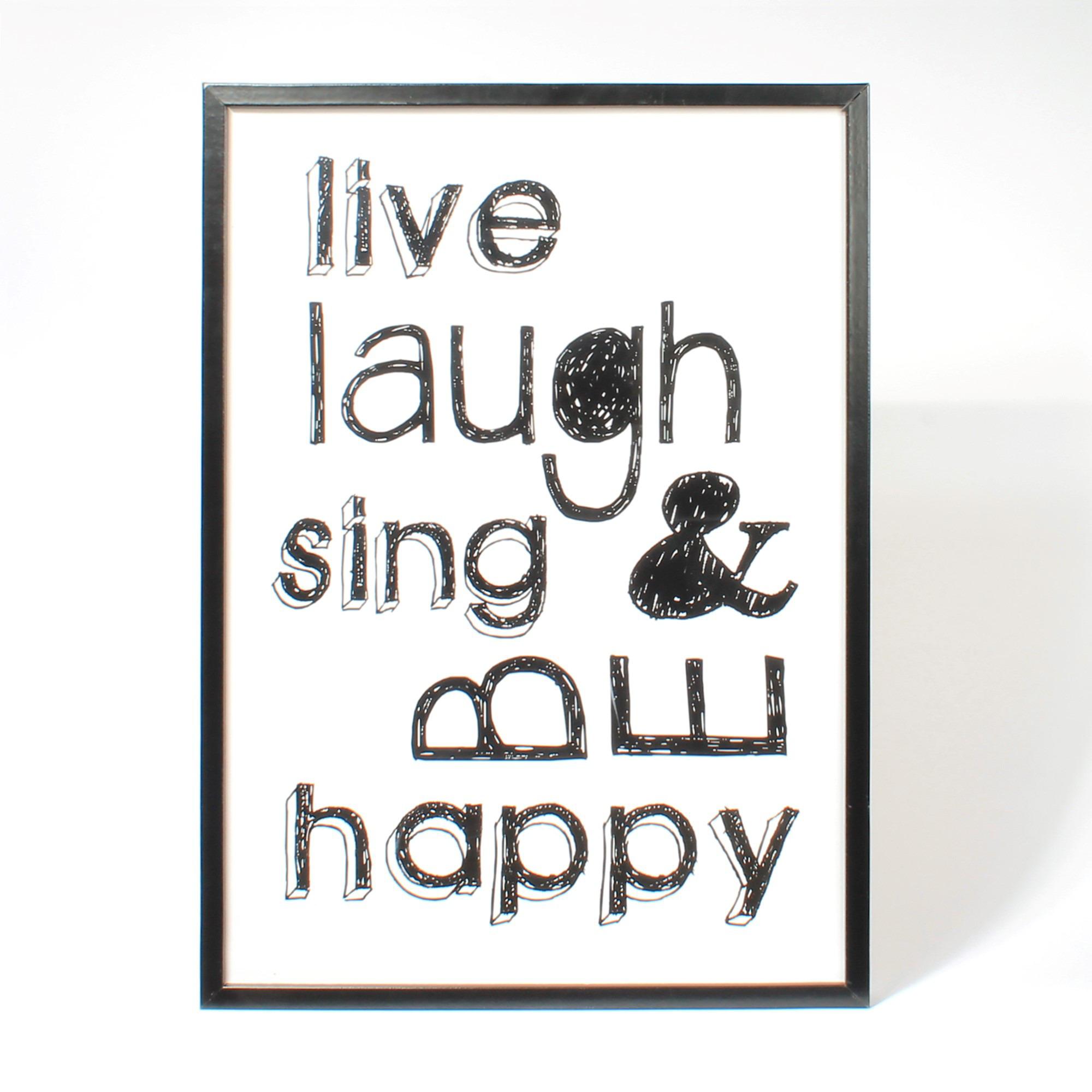 Graham & Brown Tekstbord 70 x 50 cm Live Laugh..