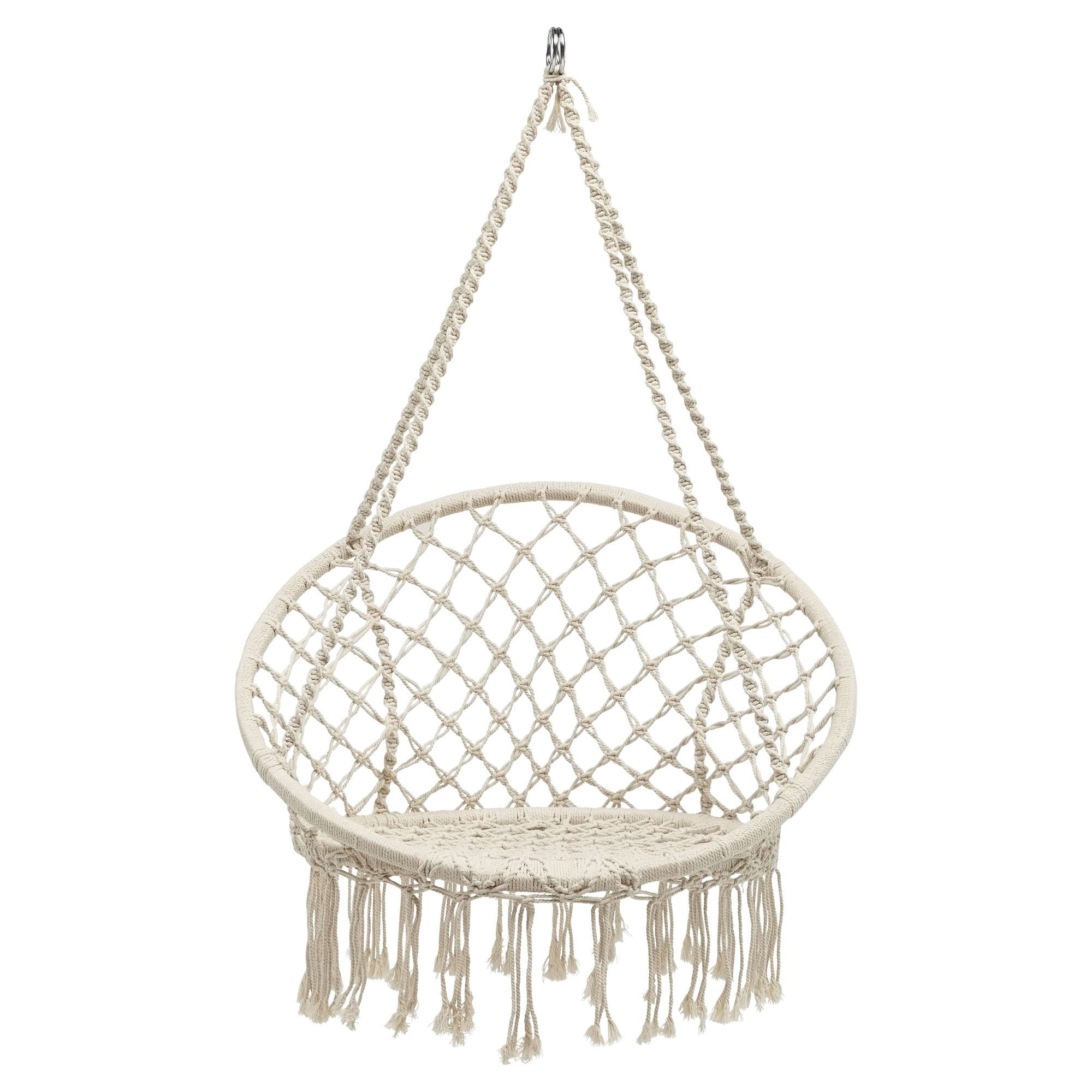 Hangstoel met franjes 118x80x80 cm   Tuinstoelen   Tuinmeubelen   Tuin   KARWEI