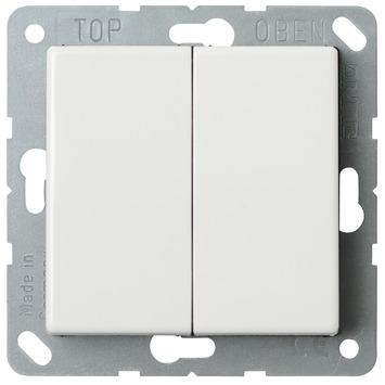 JUNG AS500 Wissel-/wisselschakelaar wit