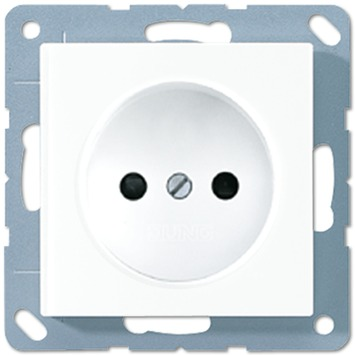 JUNG AS500 stopcontact enkel wit