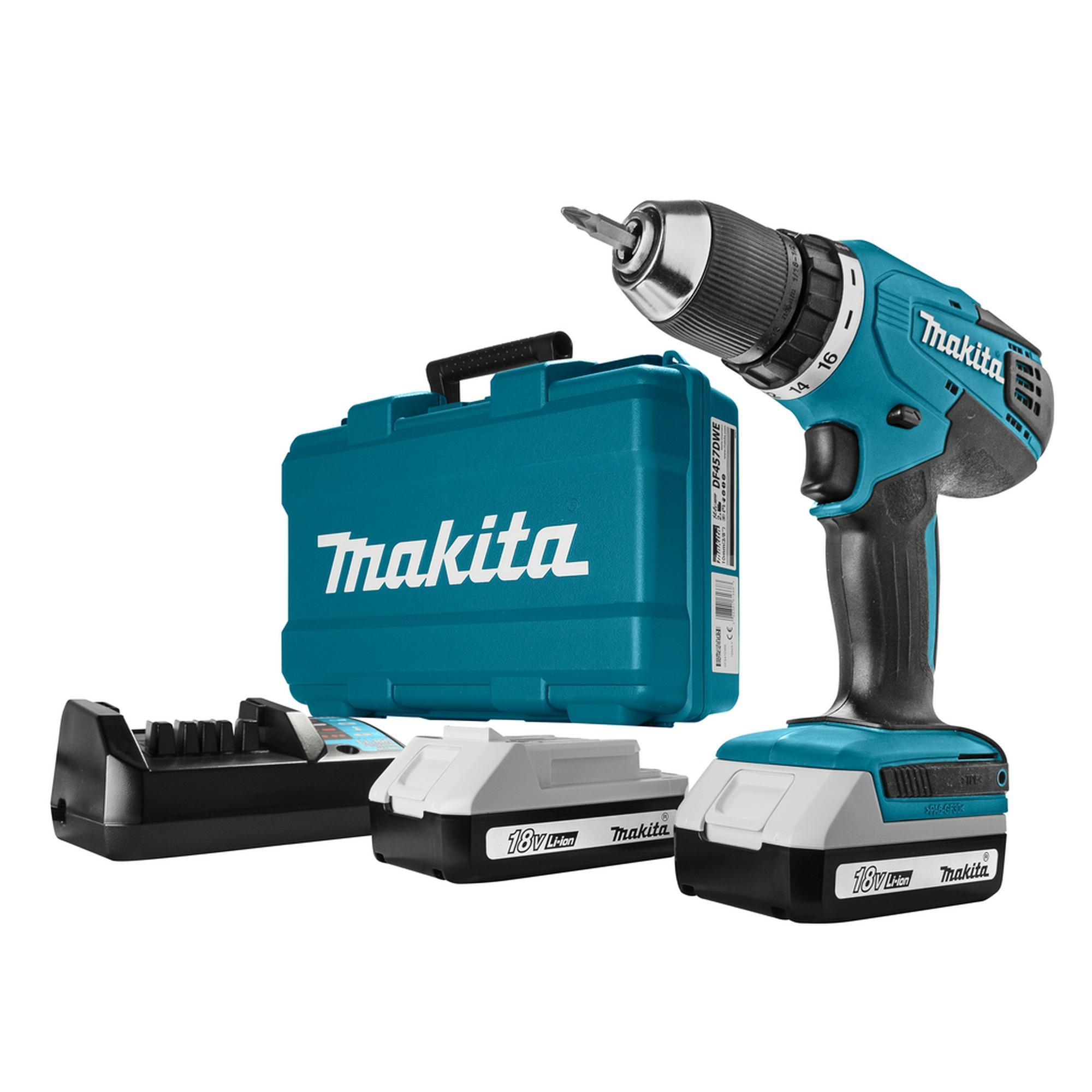 Makita accu boormachine DF457DWE