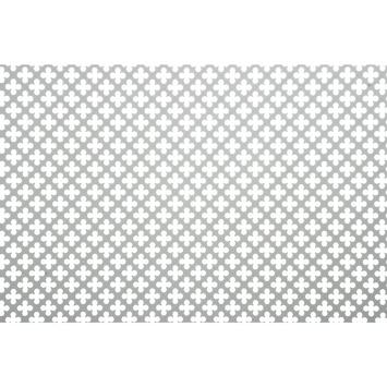 CanDo Decorpaneel Klaver Zilver Aluminium 100x50 cm