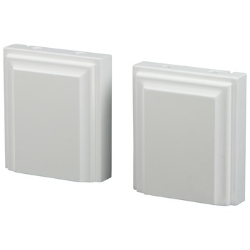 CanDo vloerblok toog MDF wit gegrond 2 stuks