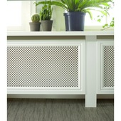CanDo radiatorbekleding Traditional wit gegrond 80x60 cm
