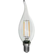 Handson ledlamp kaars met gebogen uiteinde filament E14 2,3W = 25W