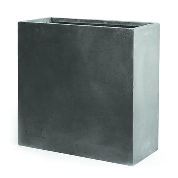 Bloembak Dijon kunststof grijs 60x25x72 cm