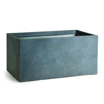 Bloembakken Kunststof Buiten.Bloembak Dijon Kunststof Grijs 100x45x45 Cm