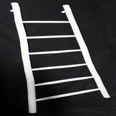Ladder decoratief teak wit 185 cm