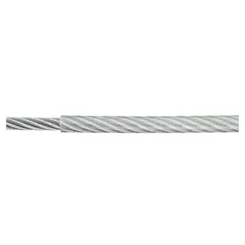 Staaldraad kunststof grijs Ø2/3 mm / 1 m / max. 240 kg