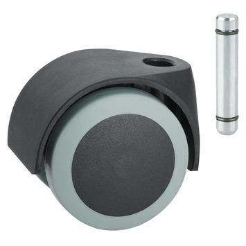 Zwenkwiel TPE met stiftbevestiging Ø 50 mm max. 40 kg